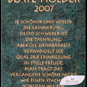 31014 bronzen plaatje grafsteen tekstpaneel