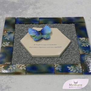 blauw keramiek met bladeren
