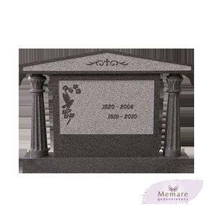 chinees grafmonument met dakje en pilaren