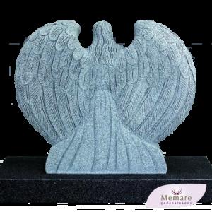 grafmonument een hart omarmd door een engel met vleugels 3