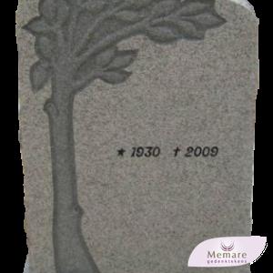 grafsteen met boom en takken