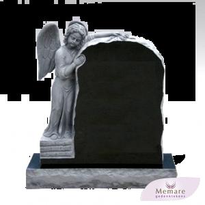 grafsteen met een engel voorzijde