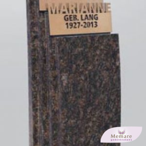 granieten zuil met brons