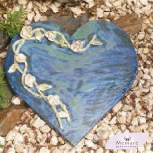 hart van keramiek met rozentak