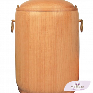 houten urn met ringen