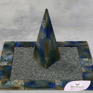 keramieken urn met omranding 3