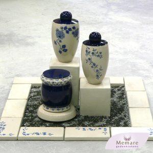omranding en meerdere urnen