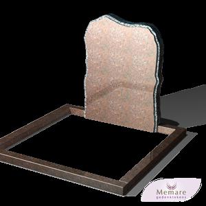 staande steen met omranding in imperial graniet