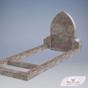 grafsteen met zijblokken